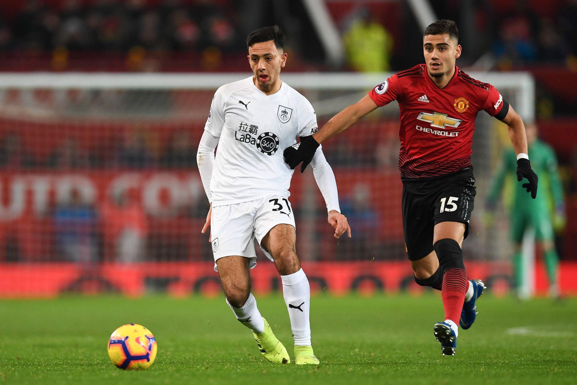 BYTTET UT: Andreas Pereira var innvolvert i Manchester Uniteds første baklengsmål og ble erstattet av Jesse Lingard i det 62. minutt.