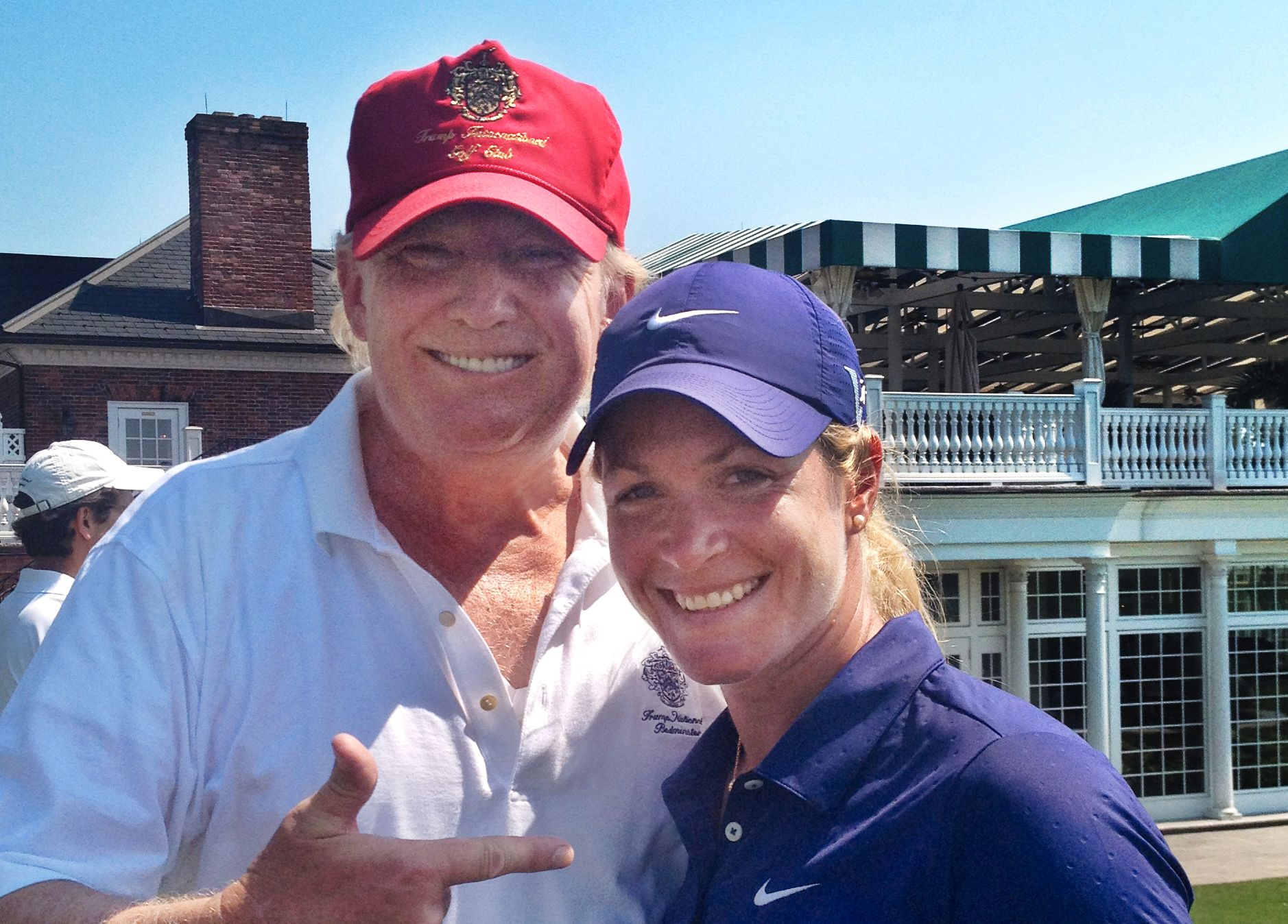 TRUMP'S PICK: Suzann Pettersen took this picture of herself with Donald Trump. He has given her lots of good advice over the years.