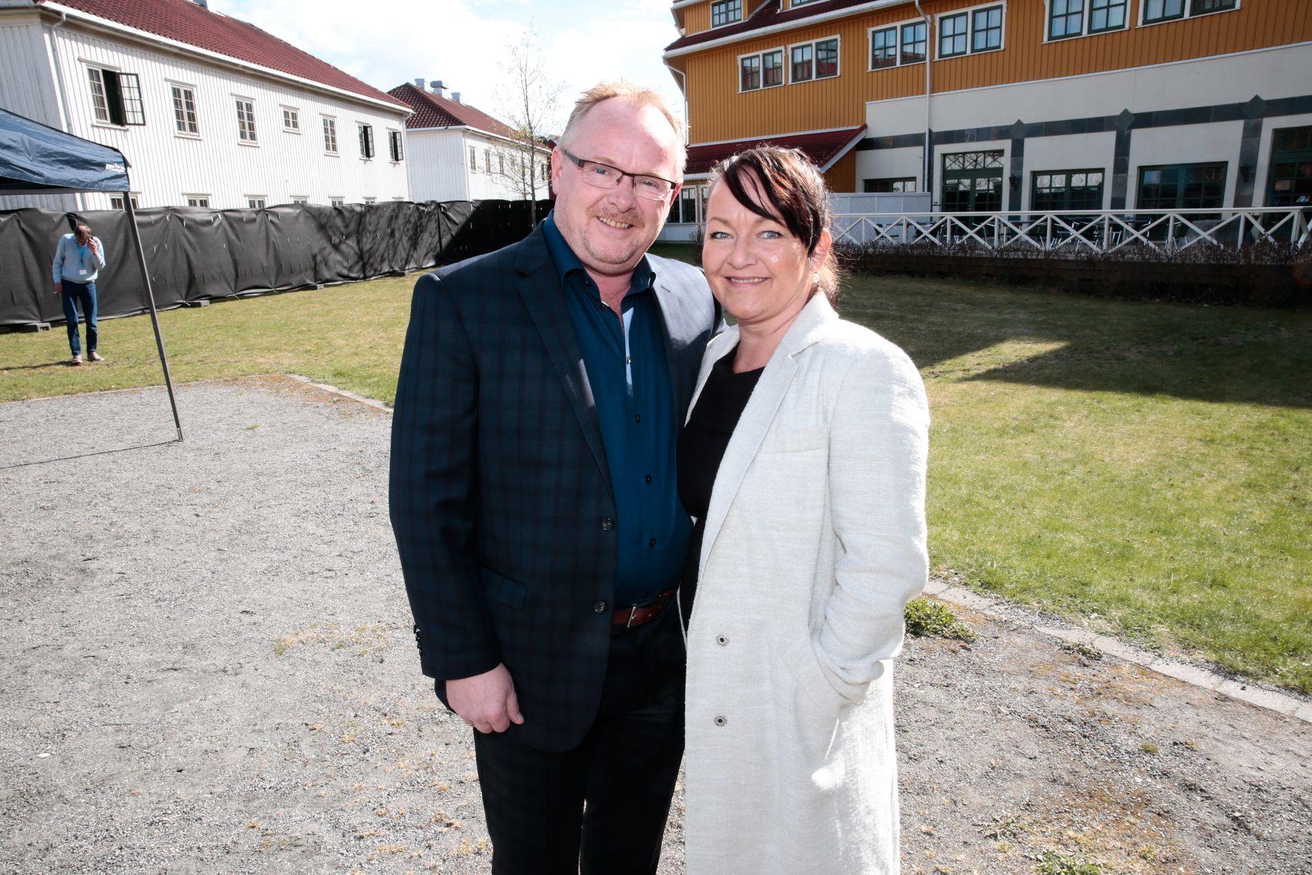 MAKTPAR: Per og Line Miriam Sandberg, her under Frps landsmøte i 2015 på Gardermoen.