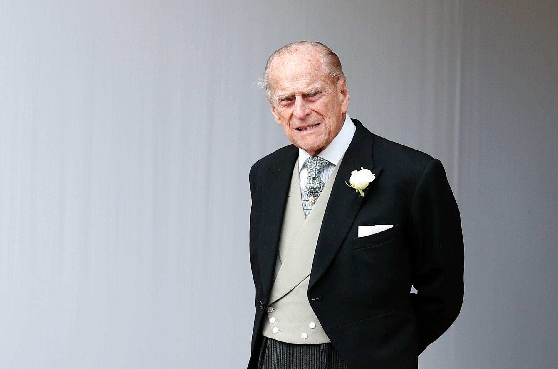 PRINS: Prins Philip har rukket å bli hele 97 år gammel. Her fra et bryllup i fjor.