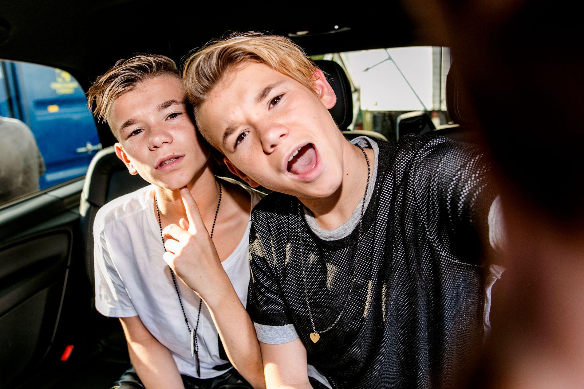 KLAR FOR FREDSPRISEN: De to norske 14-årige tvillingene Marcus og Martinus Gunnarsen skal opptre på Fredspriskonserten 11. desember.