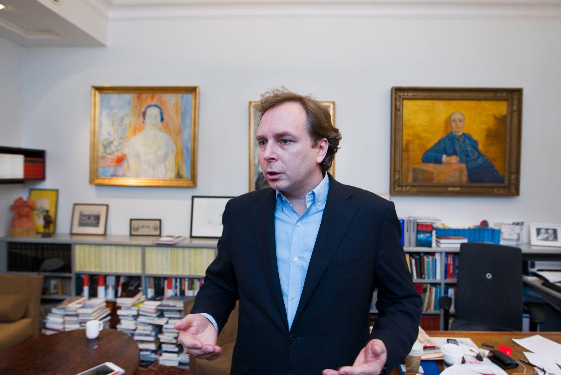 GLAD: William Nygaards sønn og etterfølger som Aschehoug-sjef, Mads Nygaard, mener siktelsen i forbindelse med skuddene på faren i 1993, sender et viktig signal.