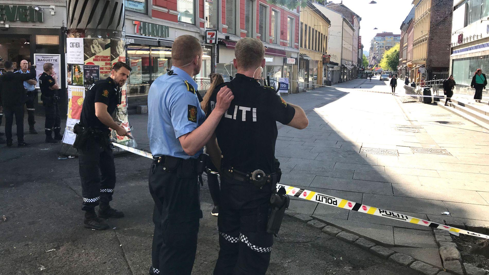 KNIVSTIKKING: En mann er alvorlig skadet etter knivstikking i Oslo sentrum.