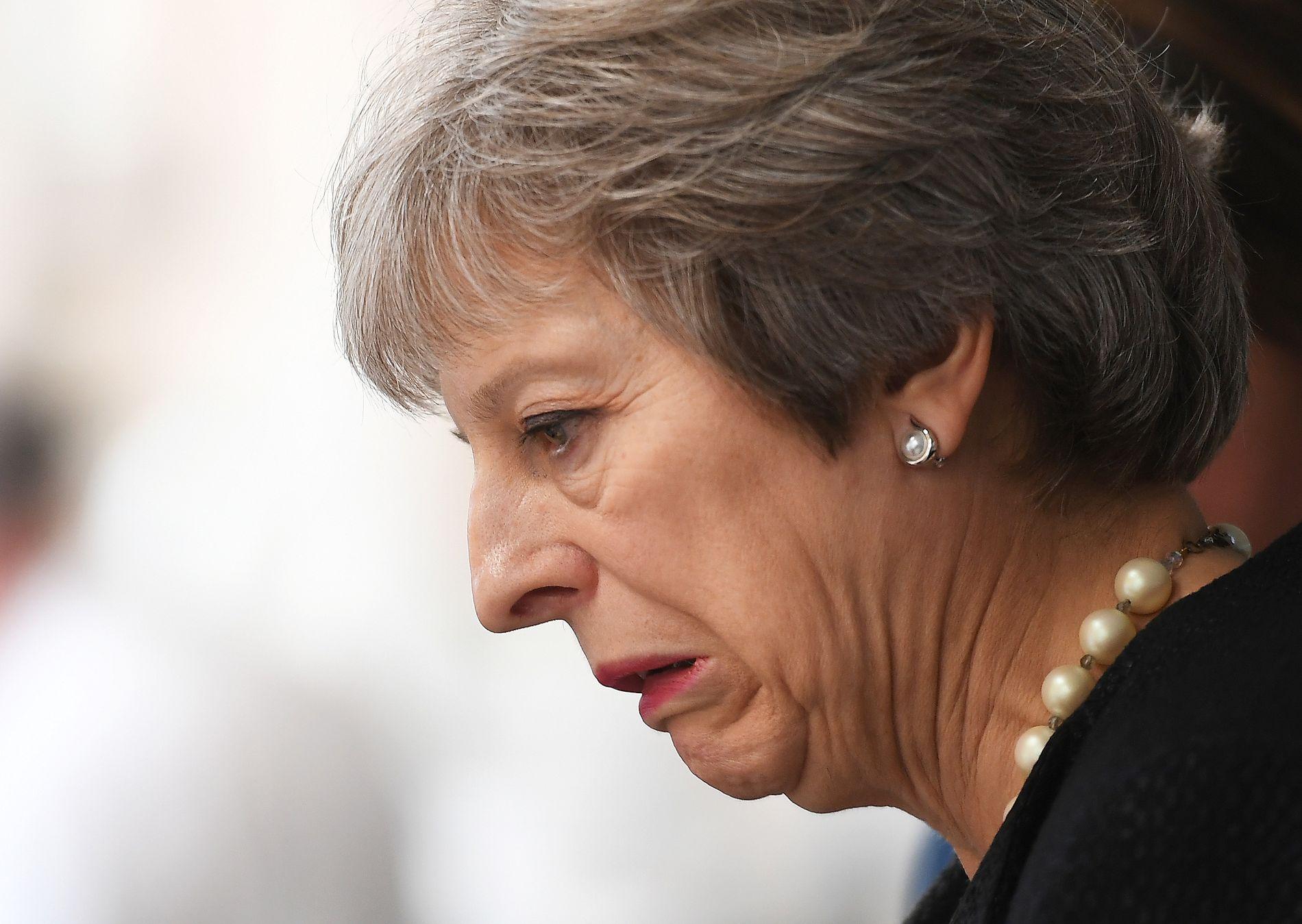 OI, DA! Storbritannias statsminister Theresa May er mer upopulær enn noensinne før, viser en ny måling.
