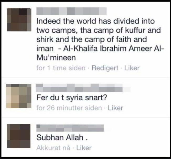 «SUBHAN ALLAH»: I desember ble 31-åringen spurt av en venn på Facebook om han skulle dra til Syria. «Subhan Allah» («Ære være Allah»), svarer han. Foto: SKJERMDUMP