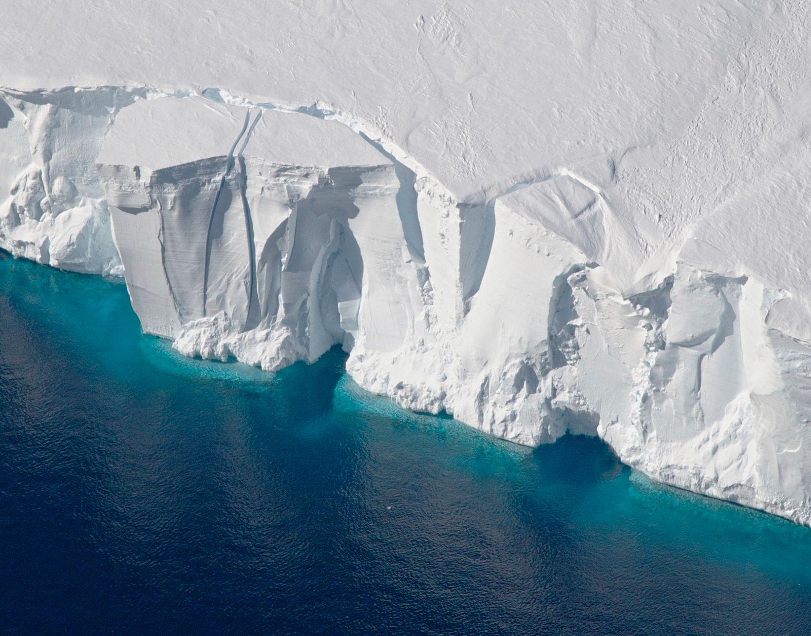 SMELTER: Bildet fra 2016 viser Getz ishylle i Antarktis.