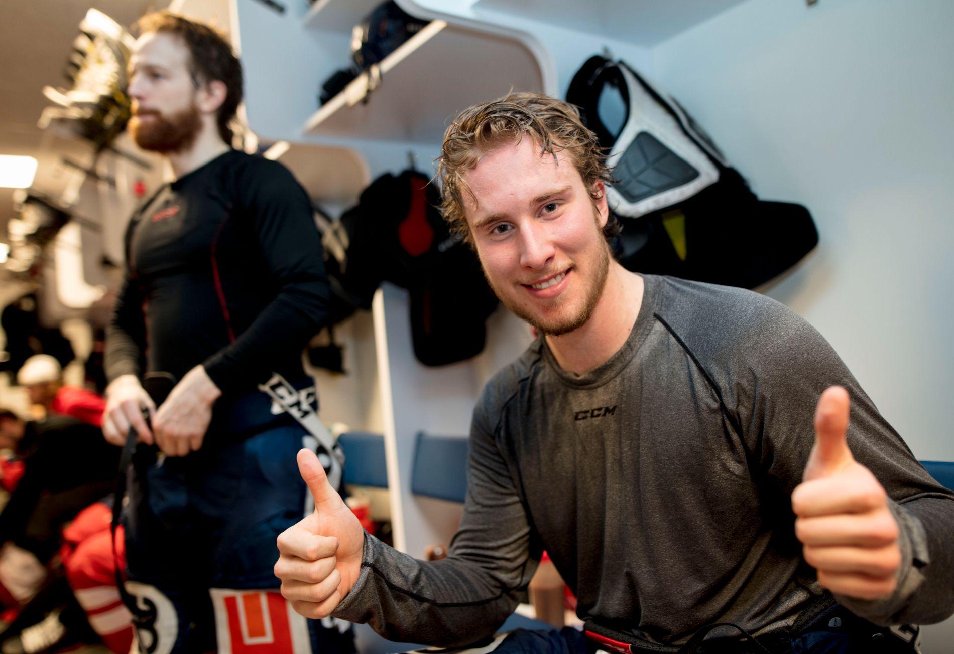 ÅRETS NYKOMMER: Jacob Lundell Noer (20) ble kåret til beste nykommer sesongen 2017/18 i GET-ligaen. 20-åringen var spesielt mål-produktiv i NM-sluttspillet, der hans Lillehammer tapte for Storhamar i finalen.