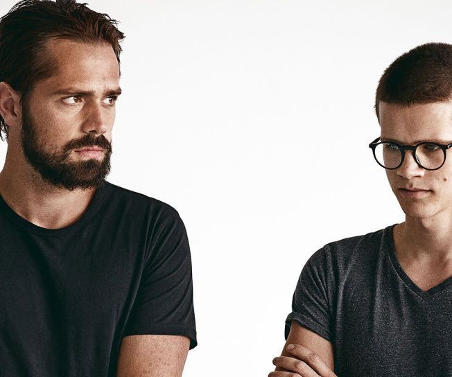 REISTE OVER ATLANTEREN: Ulrik Denizou Lund og Kjetil Jansen utgjør duoen Lemaitre. Selv om de for tiden bor i Los Angeles vil de helst ha sommerferien i Norge.
