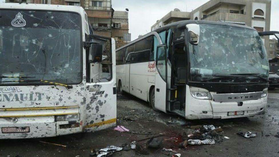 SELVMORDSAKSJONER: Det er uvanlig med selvmordsaksjoner inne i Damaskus. Sunniekstremistene i Hayat Tahrir al-Sham gjennomførte en mot et følge av sjiamuslimer 10. mars.