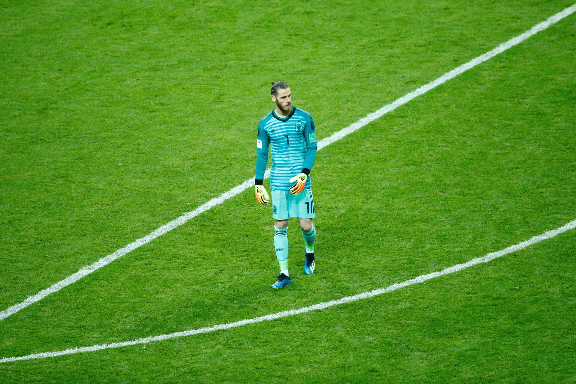 SKUFFER: David De Gea har ikke vist seg fra sin vanligvis bunnsolide side så langt i VM.