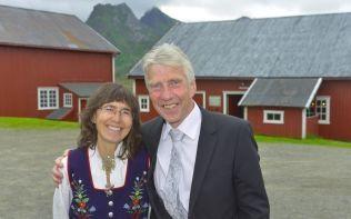 STOLTE: Brudens foreldre Anne og Kjell Arne Steira