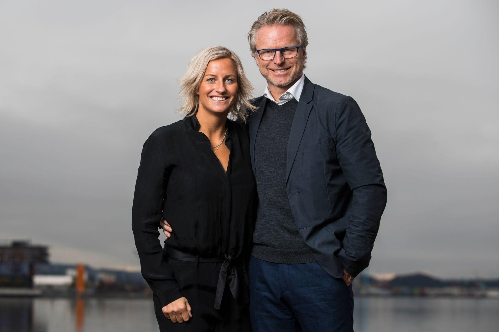 GODE KOLLEGER: Vibeke Skofterud og Åge Skinstad – her fra en lansering og markering av at det var 100 dager til OL en sen-høstdag i 2017.