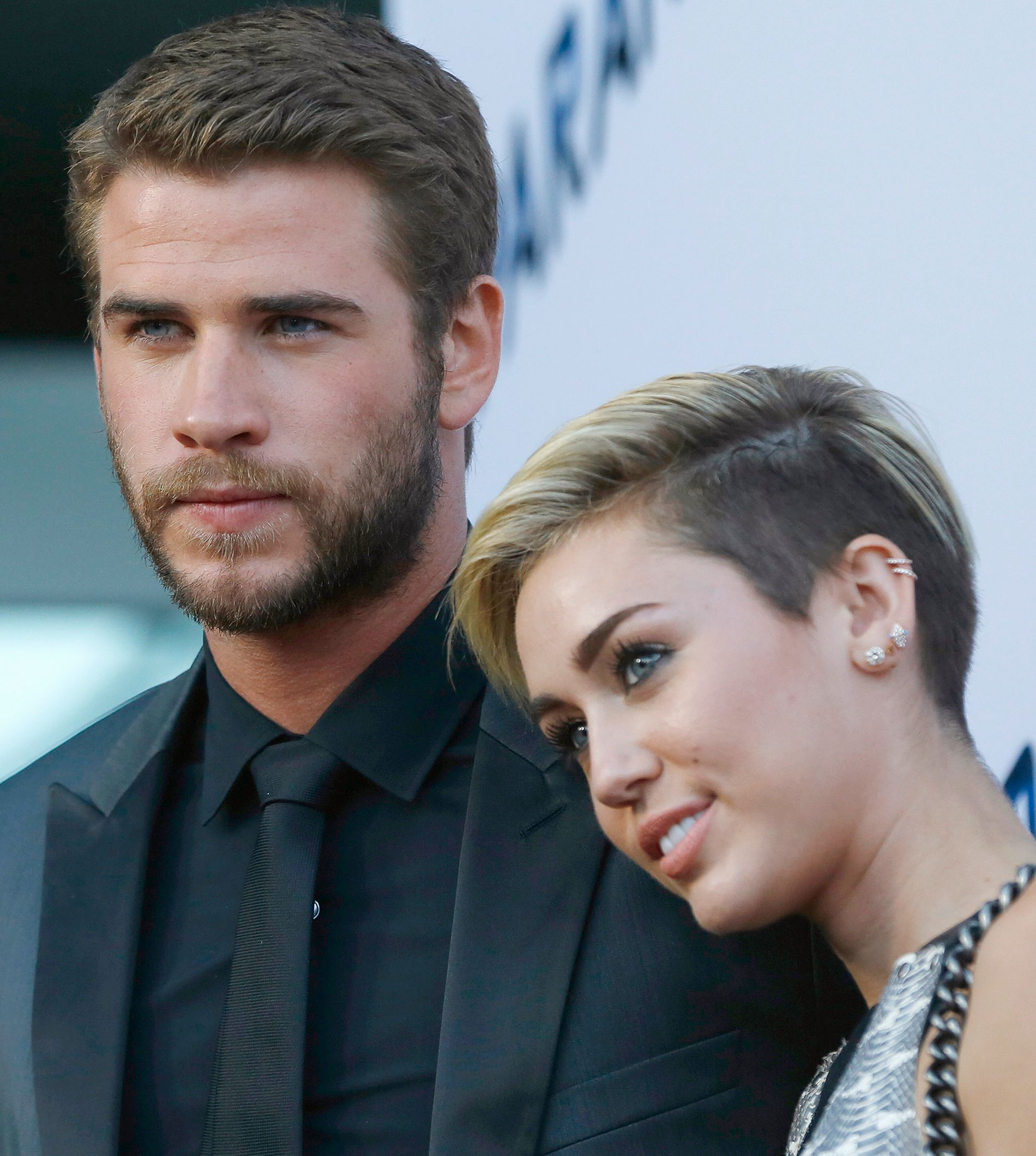 2013: Liam Hemsworth og Miley Cyrus i Hollywood like før bruddet.
