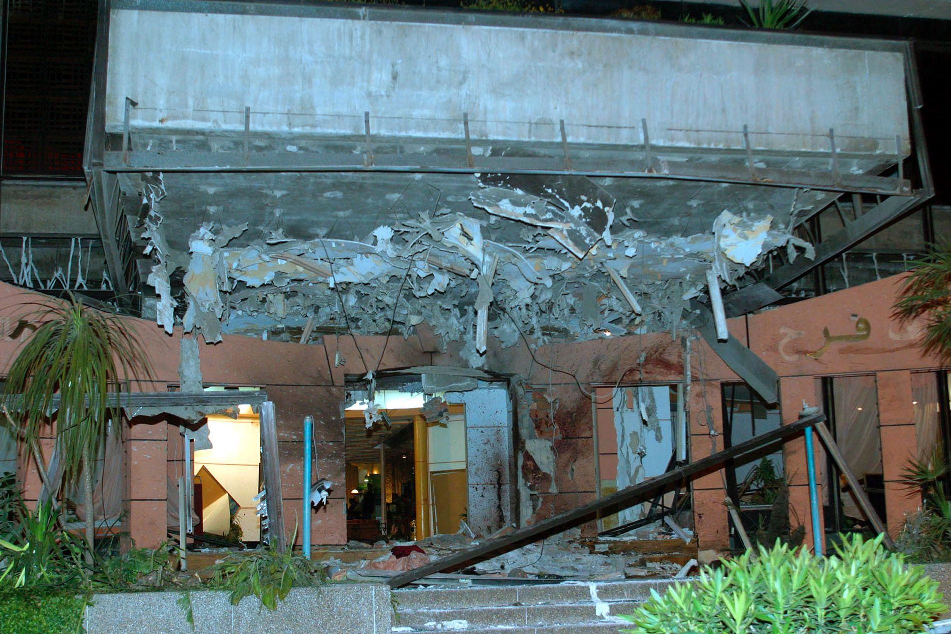 MASSEARRESTASJONER: 45 mennesker ble drept i tre koordinerte terrorangrep i Casablanca 17. mai 2003. Over 3000 personer ble arrestert i etterkant. Bildet viser fasaden til Hotel Farah Safer. Her ble 24 mennesker drept.