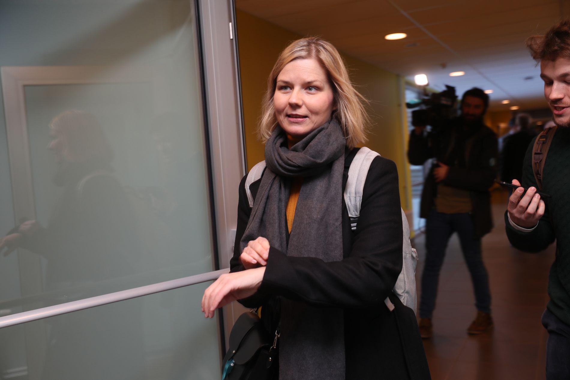 PÅ TIDE: Guri Melby (V) har lenge ønsket seg at norsk-karakterene blir redusert både i ungdomsskolen og videregående skole.