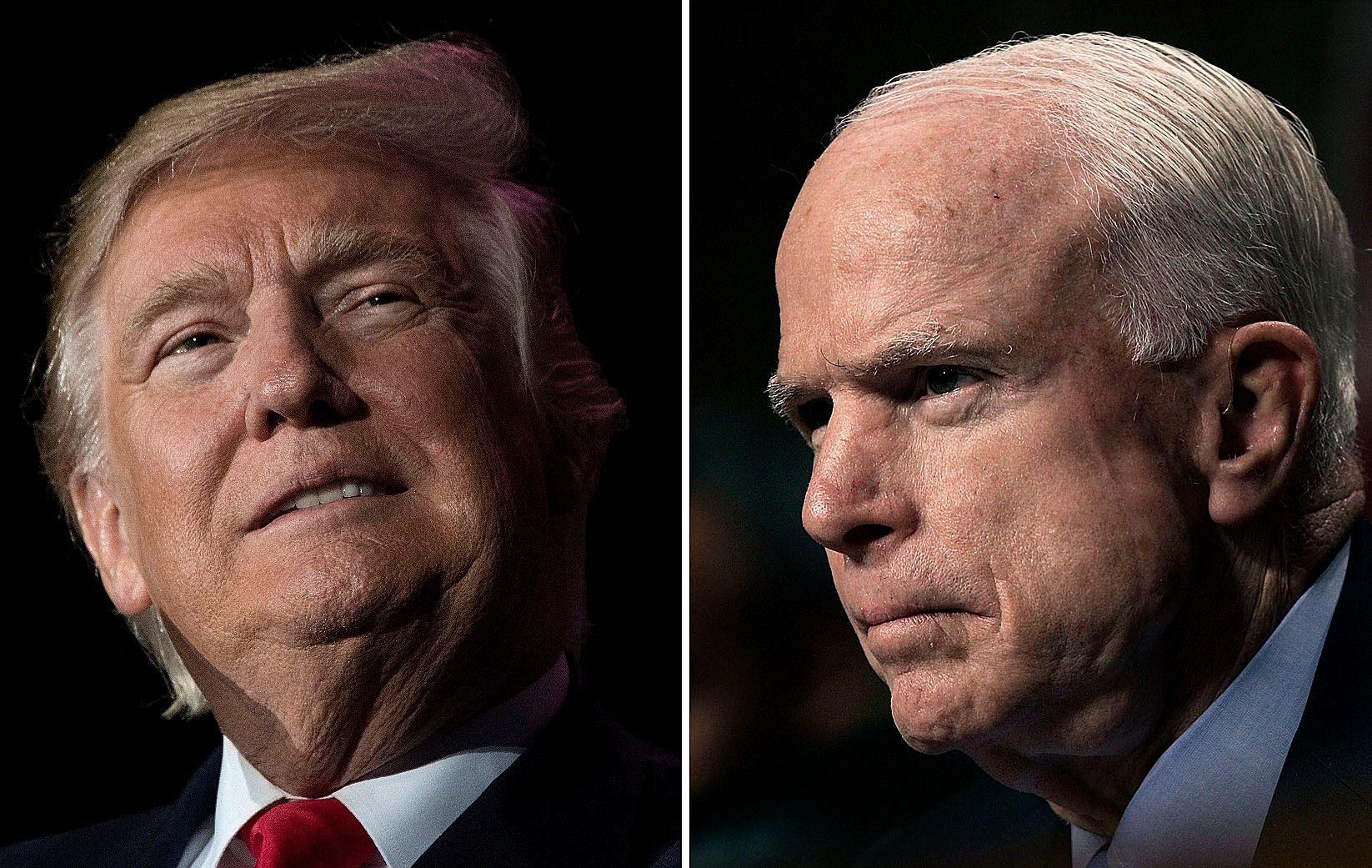 KRITISERER TRUMP IGJEN: Den republikanske senatoren, og tidligere presidentkandidaten, John McCain går hardt ut mot president Donald Trumps påstander om at Obama skal ha avlyttet han.