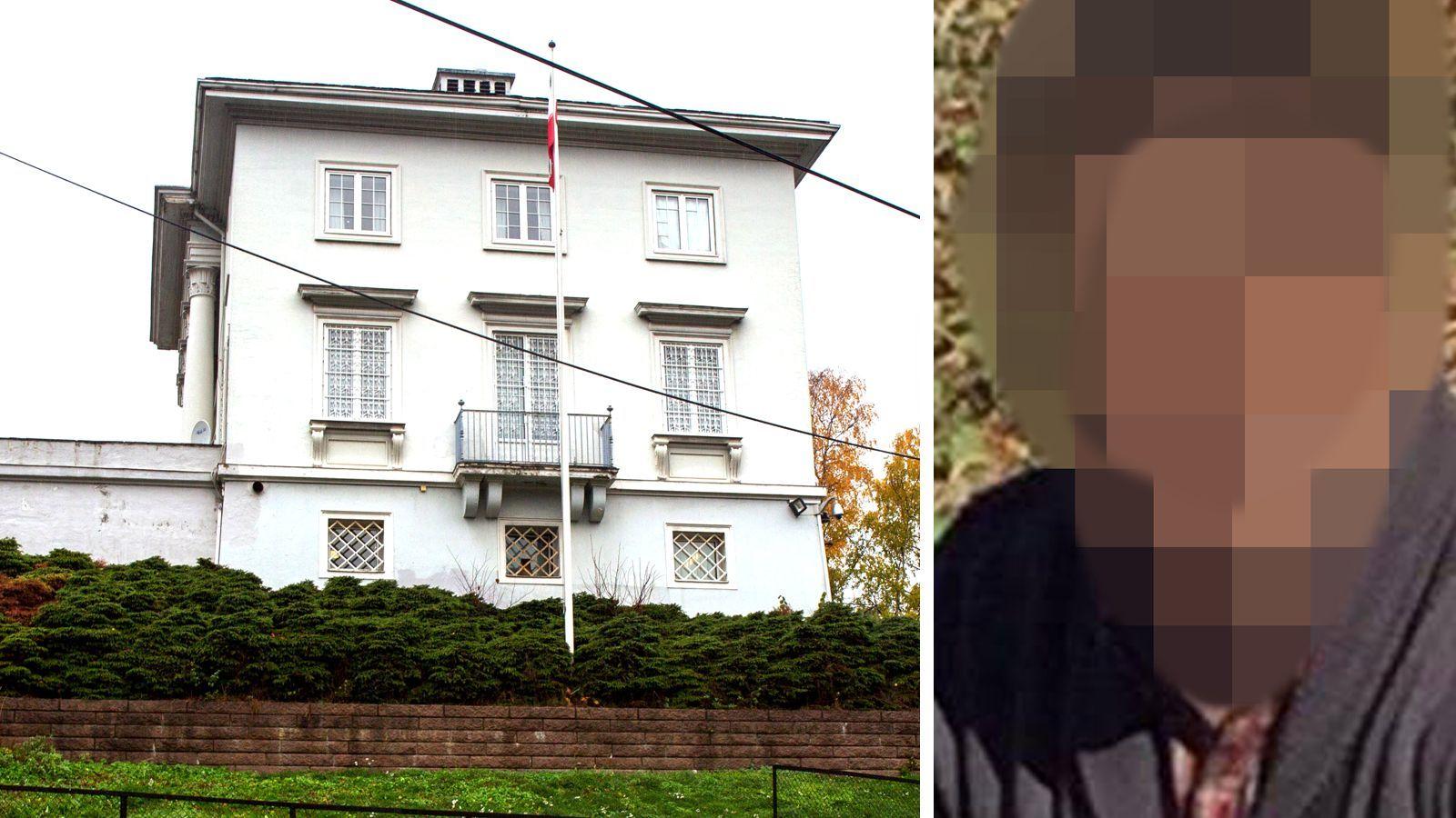 PÅ VESTKANTEN: Irans ambassade ligger i Drammensveien på Frogner i Oslo. Her skal den siktede norskiraneren flere ganger ha jobbet som vakt, ifølge VGs opplysninger.