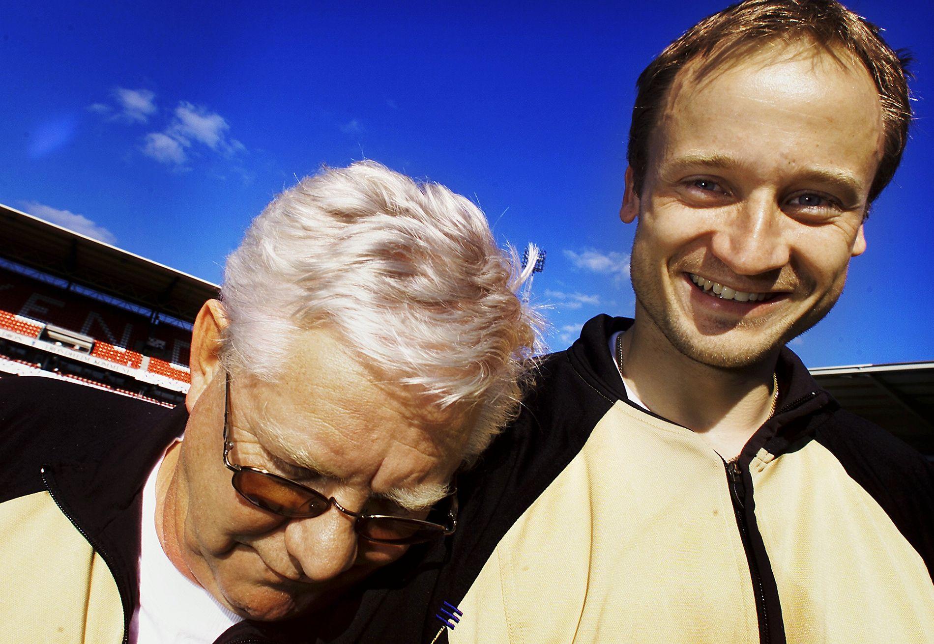 LEIESOLDAT: Nils Arne Eggen satte stor pris på at Sigurd Rushfeldt ble hentet tilbake til Lerkendal sommeren 2001 – på et leieopphold fra Racing Santander.