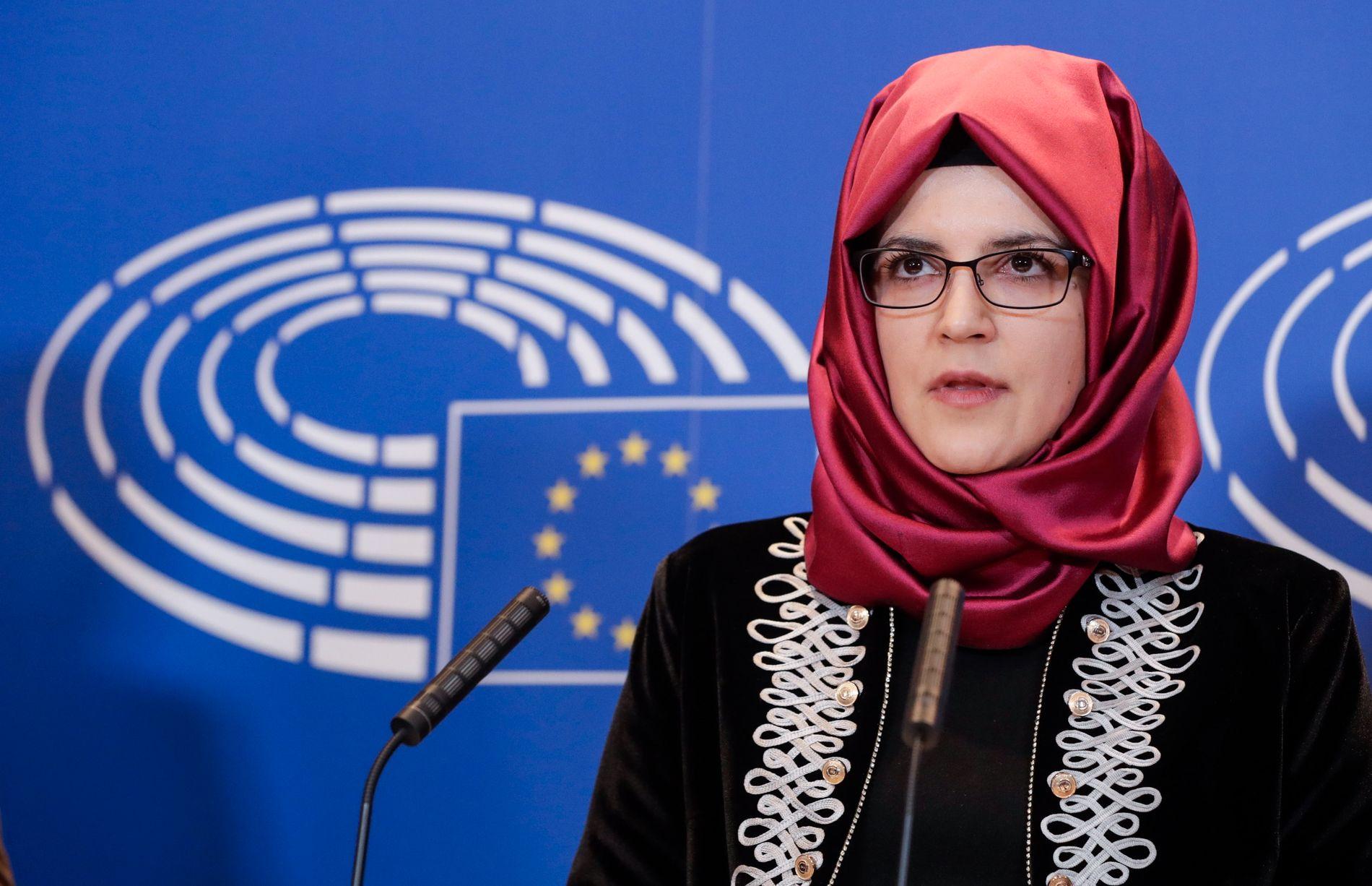 TALTE FOR EU: I februar talte Hatice for Europaparlamentet i Brussel.