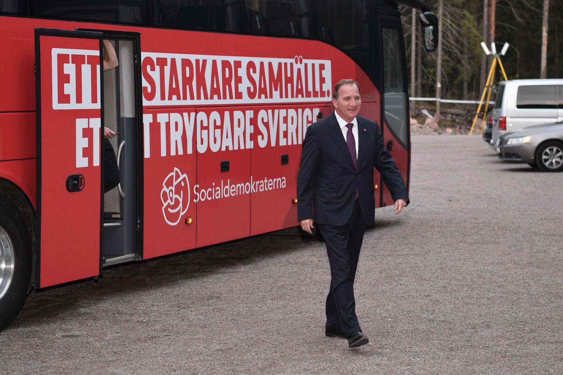 INN I RINGEN: VG møtte Sveriges statsminister Stefan Löfven før torsdagens partilederdebatt i Gävle.