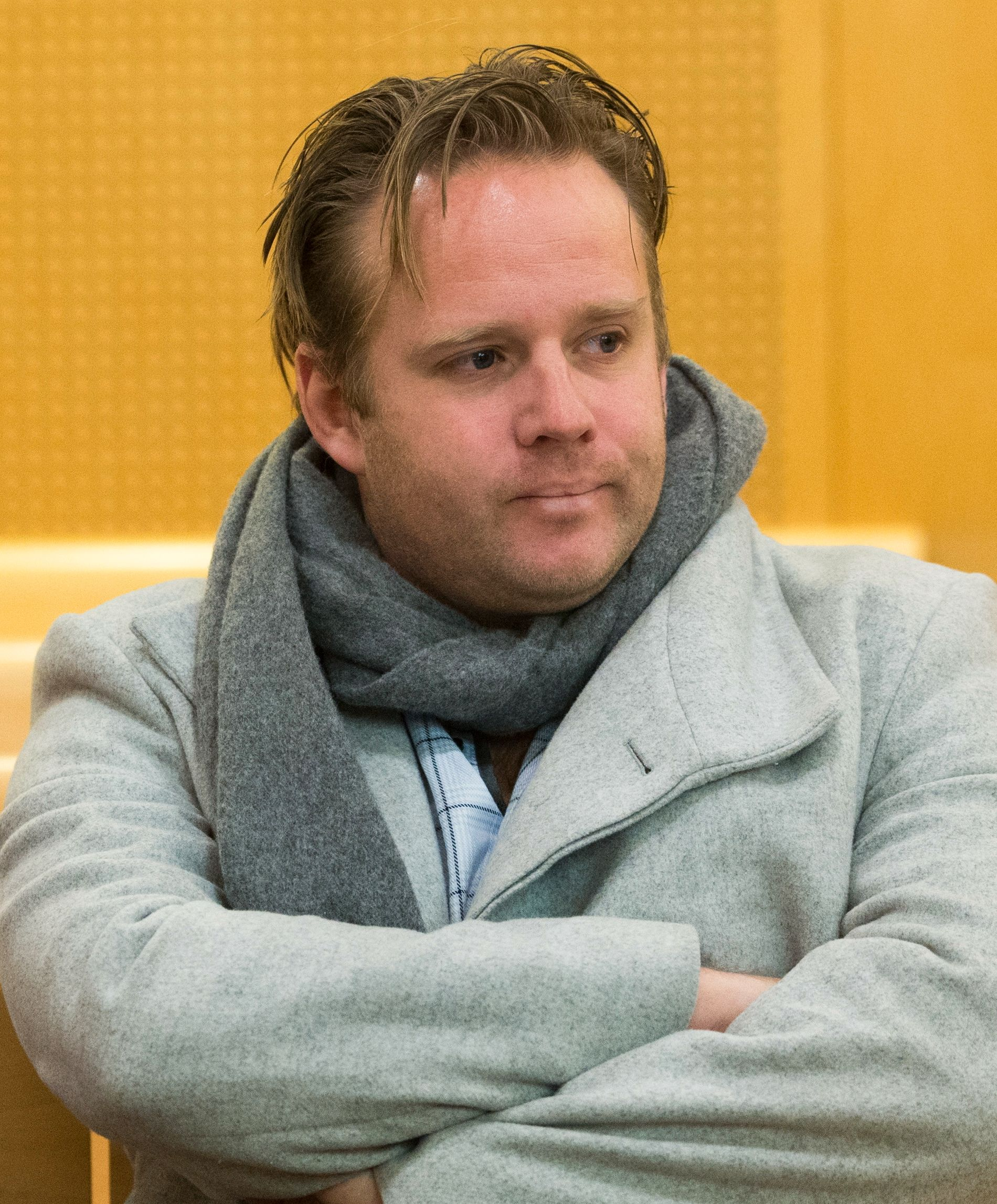 SPONSORSJEF: John-Olav Evans, her i rettssalen under behandlingen av Henrik Kristoffersens Red Bull-avtale sent i 2016.