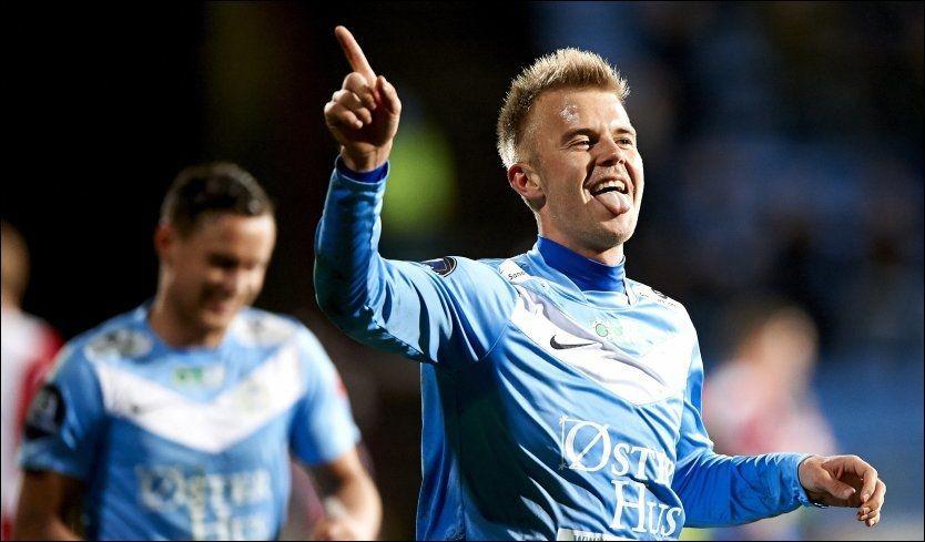 KNUSTE TIL: Her feirer Christian Gytkjær 2-0-scoringen. Det skulle bli mye mer. Foto: Kent Skibstad, NTB Scanpix