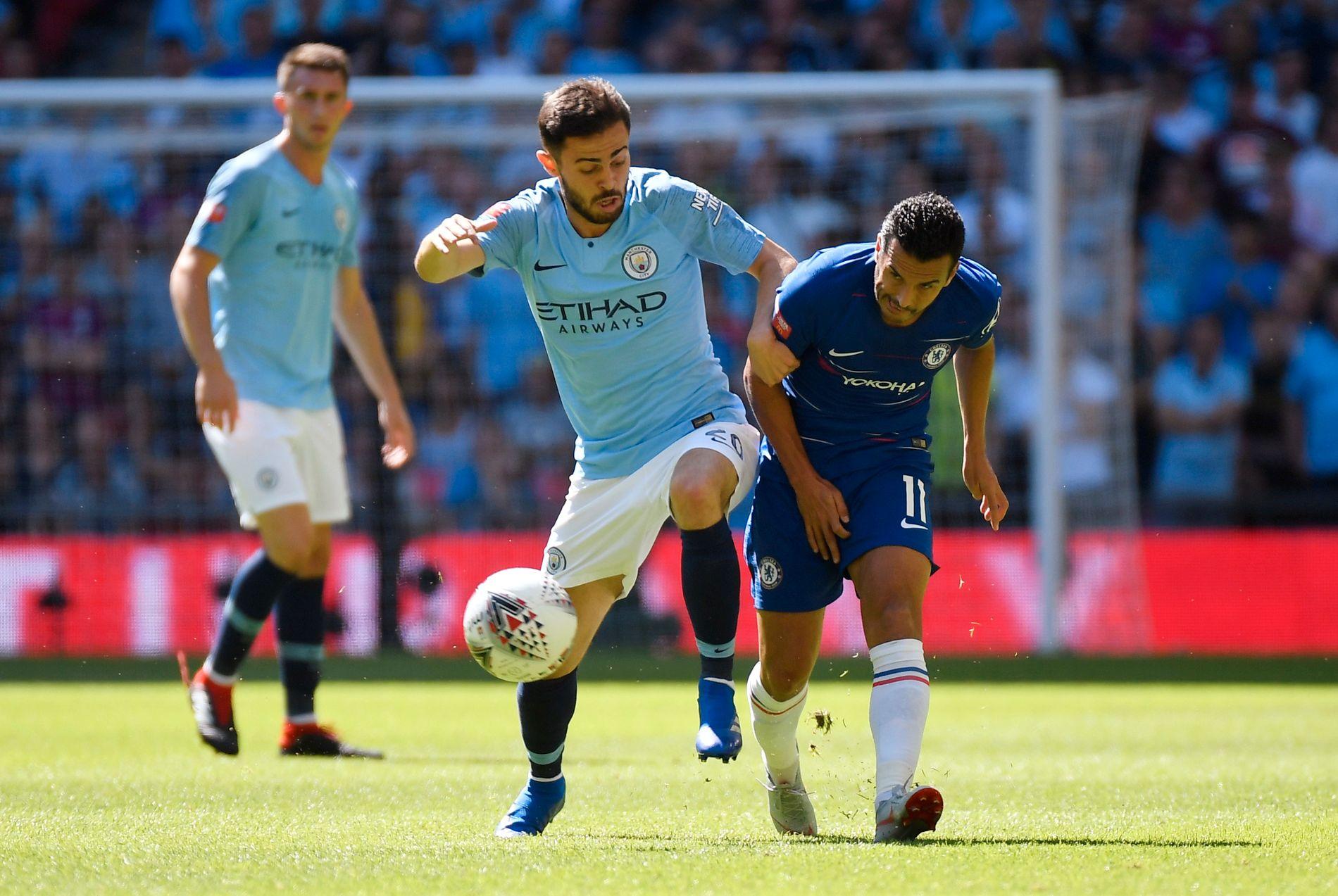 LOVENDE: Bernardo Silva, her i aksjon under Community Shield mot Chelsea, har vært i storform for Manchester City i sesongoppkjøringen.
