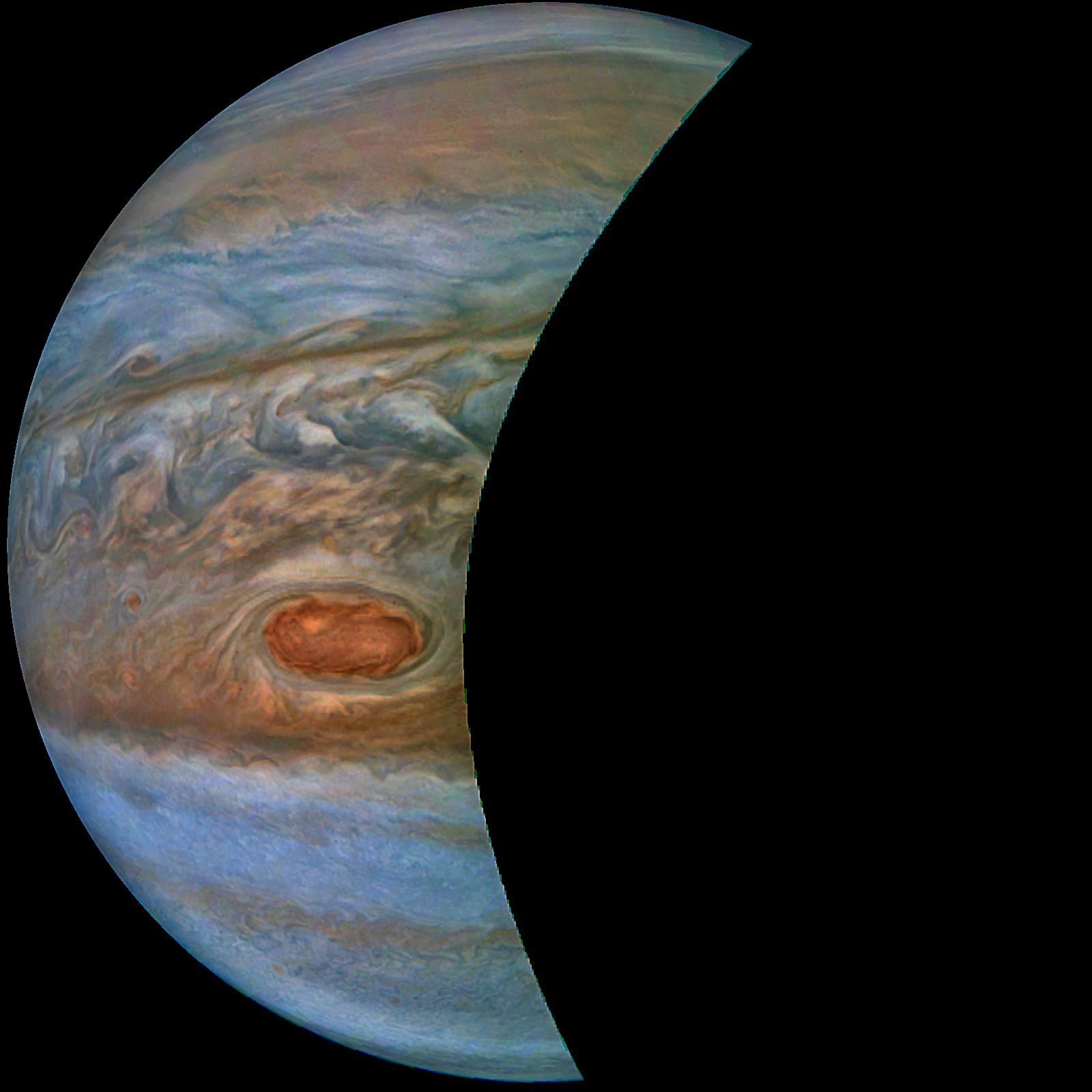 RØD FLEKK: Forskningsleder ved Norsk Romsenter, Terje Wahl opplyser at bildene fra NASA blant annet gir et detaljert bilde av den berømte røde flekken som stammer fra en gigantisk storm i Jupiters atmosfære. Stormen har pågått så lenge det har vært teleskoper på jorden.