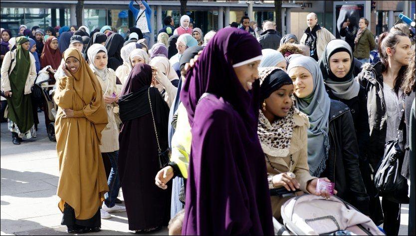 PRESS:Kronikkforfatteren mener unge, muslimske kvinner bør kjempe mot kvinnerundertrykingen i de muslimske miljøene. Her fra en konferanse i regi av Islam Net i fjor vår. Foto: Kristian Helgesen.