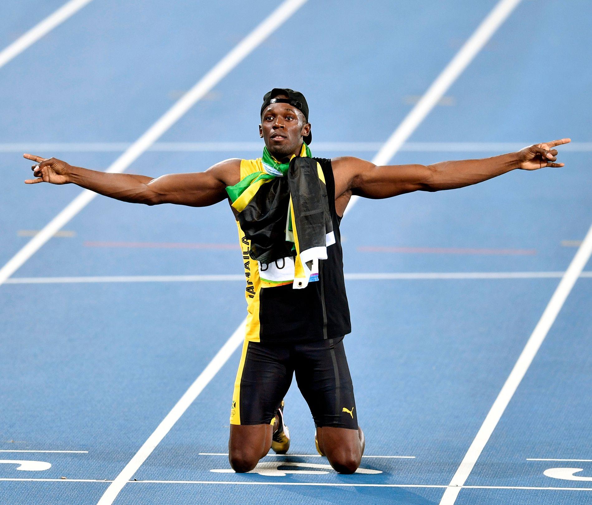 UDØDELIG: Usain Bolt OL-takket for seg i Rio i natt.