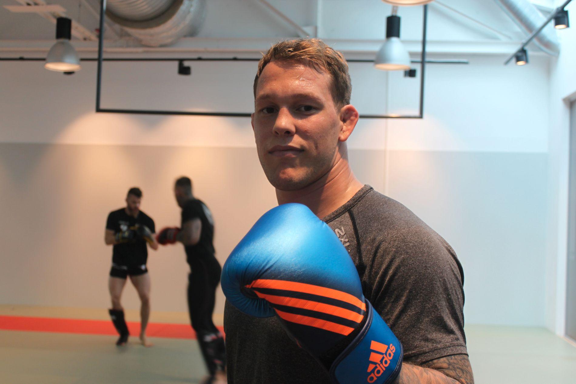 PÅ JOBB OM DAGEN: Marthin Hamlet – ja, han har en H i Martin – har en perfekt 3–0 MMA-rekord.