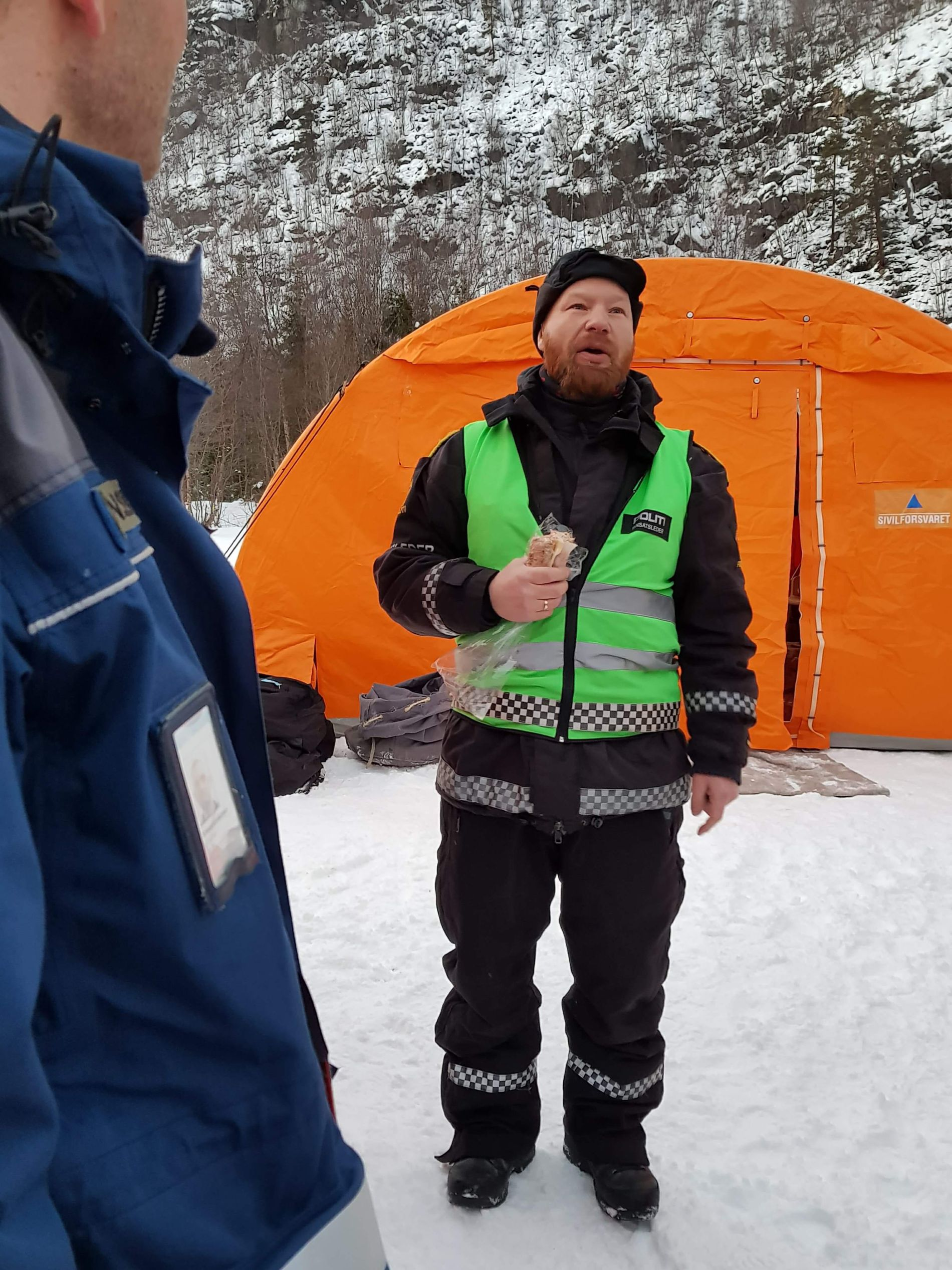DRAMATISK: Redningsaksjonen etter Kjell-Harald Myrseth pågikk i nesten 24 timer og ble ledet av innsatsleder Håvard Martinsen ved politiet i Finnmark.