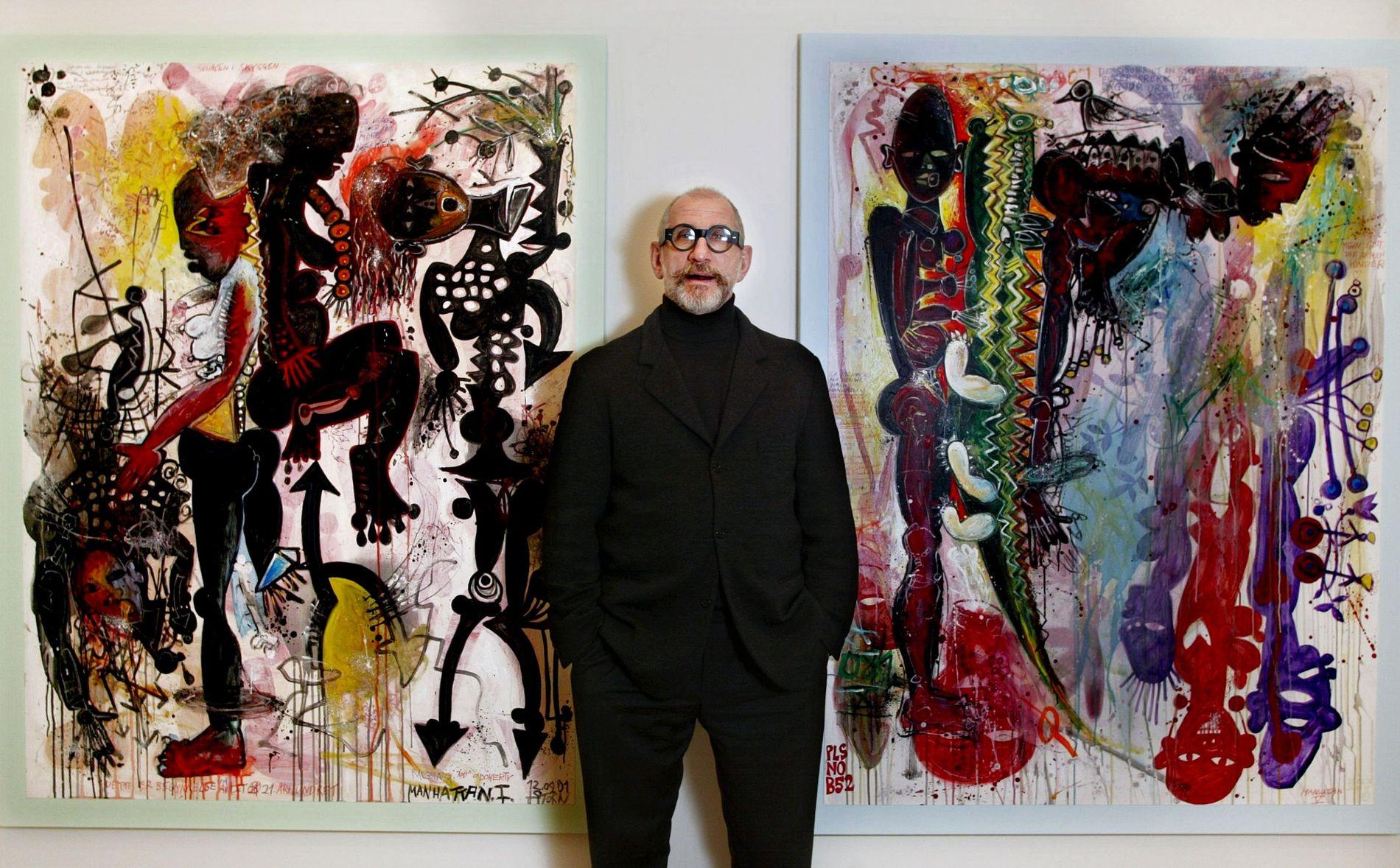 HVA SER DU? Kunstner Willibald Storn hadde i 2002 utstillingen «What do you see» på Galleri Brandstrup. Mange av bildene er en refleksjon over 11. september.