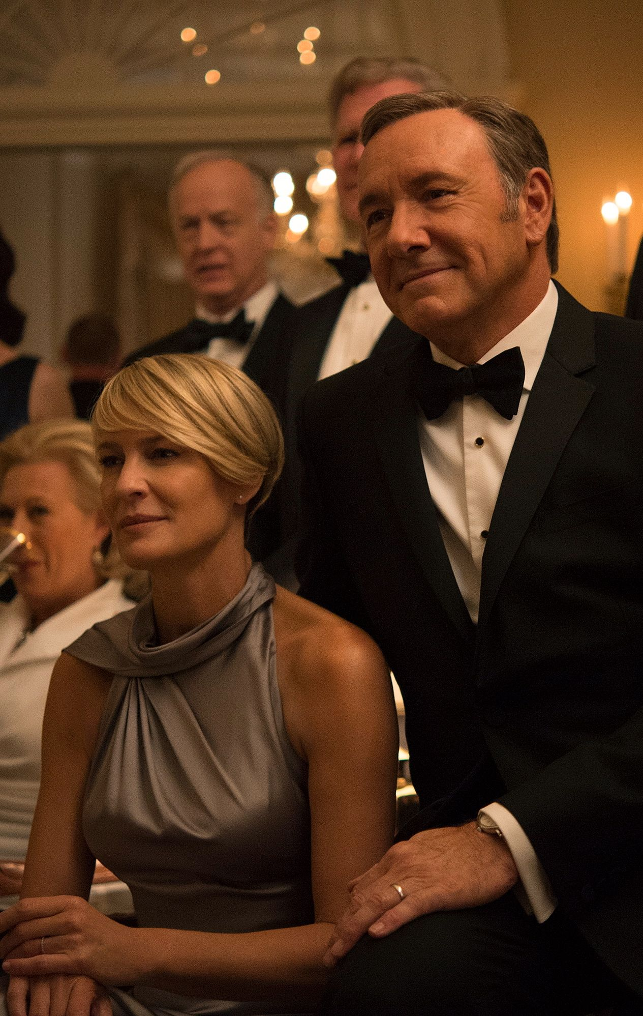 HOVEDROLLER: Kevin Spacey og Robin Wright i rollene som Frank og Claire Underwood i House of Cards.