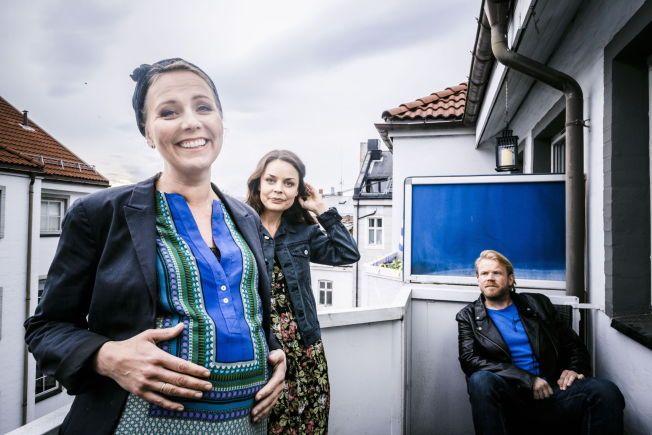 FILM OM UTROSKAP: Linn Skåber, Agnes Kittelsen og Anders Båsmo Christiansen har hovedrollene i den norske komedien som hadde premiere på norske kinoer denne helgen.
