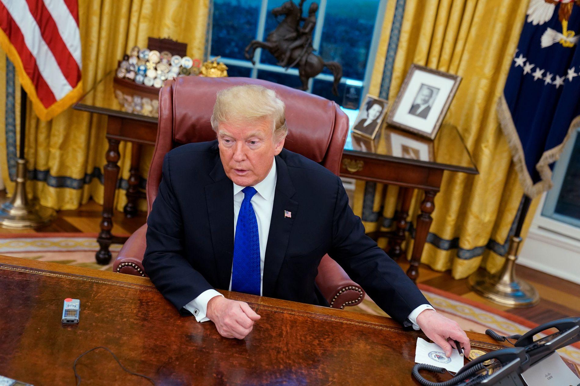 PRESIDENT: Donald Trump har snart hatt Det ovale kontor som sin arbeidsplass i to år.