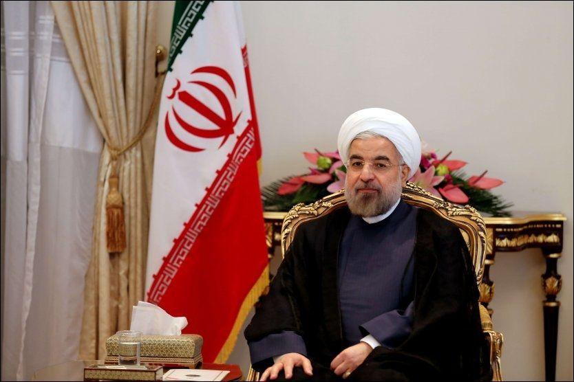 PRESIDENTEN: Her er den iranske president Hassan Rouhani avbildet i oktober i år. Foto: Afp