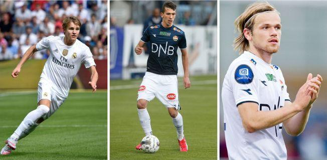 TALENTFULL TRIO: Martin Ødegaard, Gustav Mendonca Wikheim og Iver Fossum har alle tre blitt solgt fra Strømsgodset i 2015.
