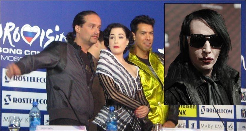 063a0ac4e MOSKVA (VG Nett) Sjokkrockeren Marilyn Manson (40) ønsket ekskona lykke til  før lørdagens burleskshow i MGP.