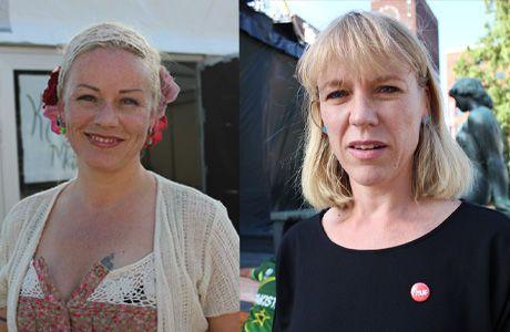 BIDRAGSYTERE: Artist Unni Wilhelmsen og kulturminister Anniken Huitfeldt var begge tilstede under Melafestivalens minnekonsert. Foto: Isabelle Ringnes/ VG