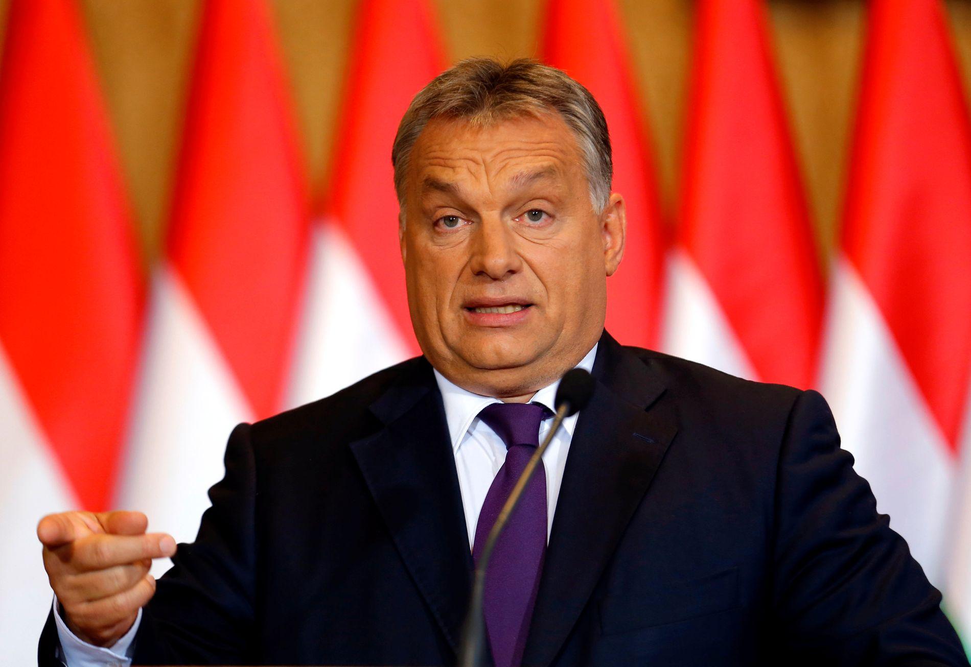 VALGFAVORITT:Statsminister Viktor Orban ligger godt an til å vinne søndagens parlamentsvalg med god margin.
