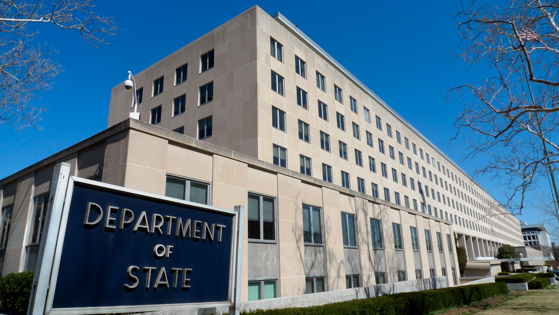 FÆRRE ANSATTE: Harry S. Truman Building, hovedkvarteret til det amerikanske utenriksdepartementet, Washington, D. C.