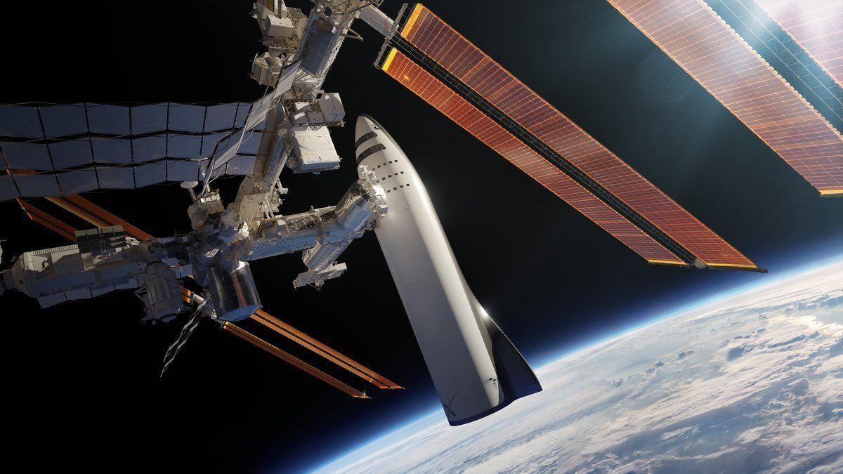 PLANER: Illustrasjoner av romfartøyet Elon Musks SpaxeX viste fram planer for i september i fjor.