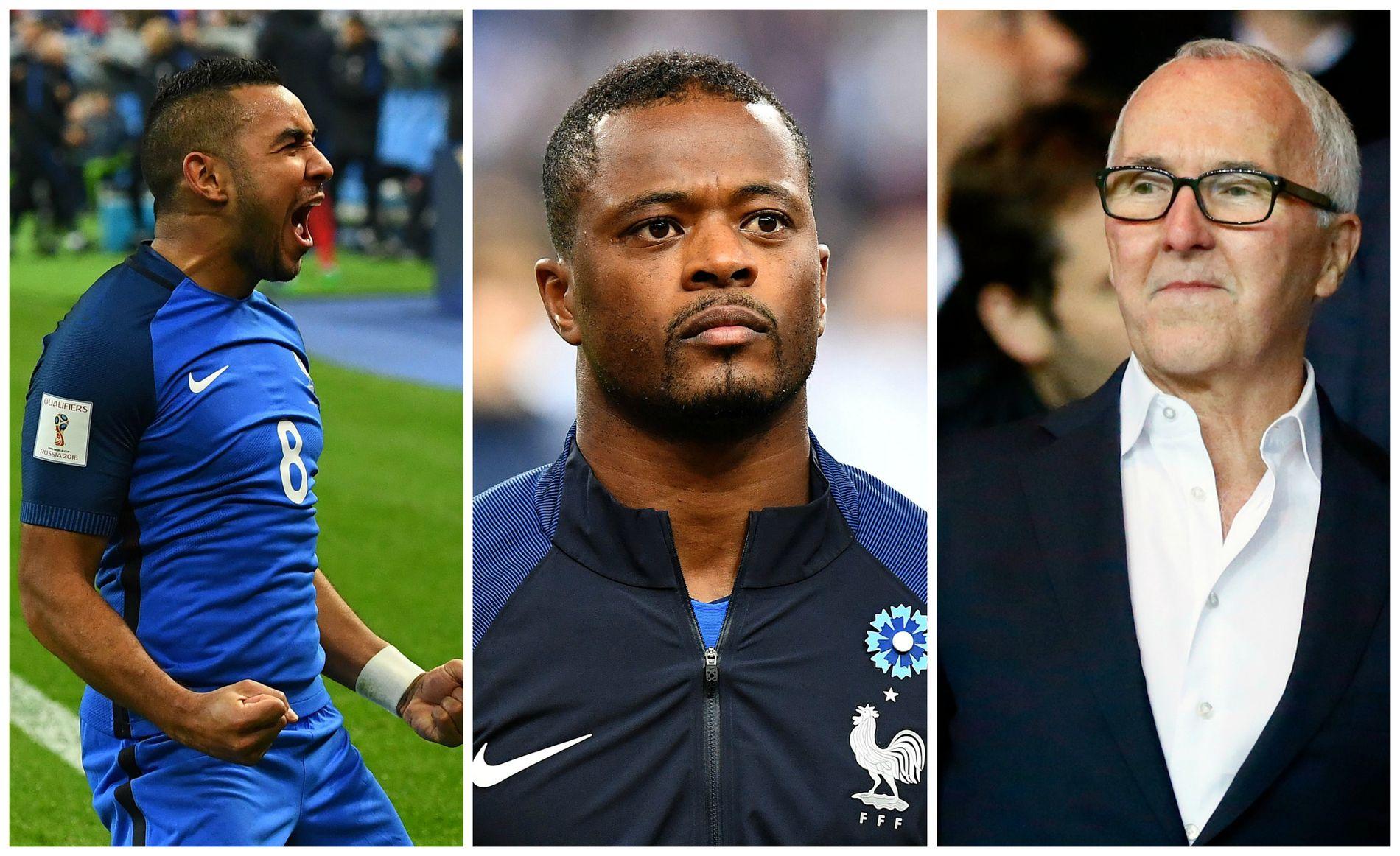 MAKE MARSEILLE GREAT AGAIN: Marseilles nye eier Frank McCourt (t.h.) har allerede signert Patrice Evra (midten). Trolig kommer også Dimitri Payet (t.v.) snart.
