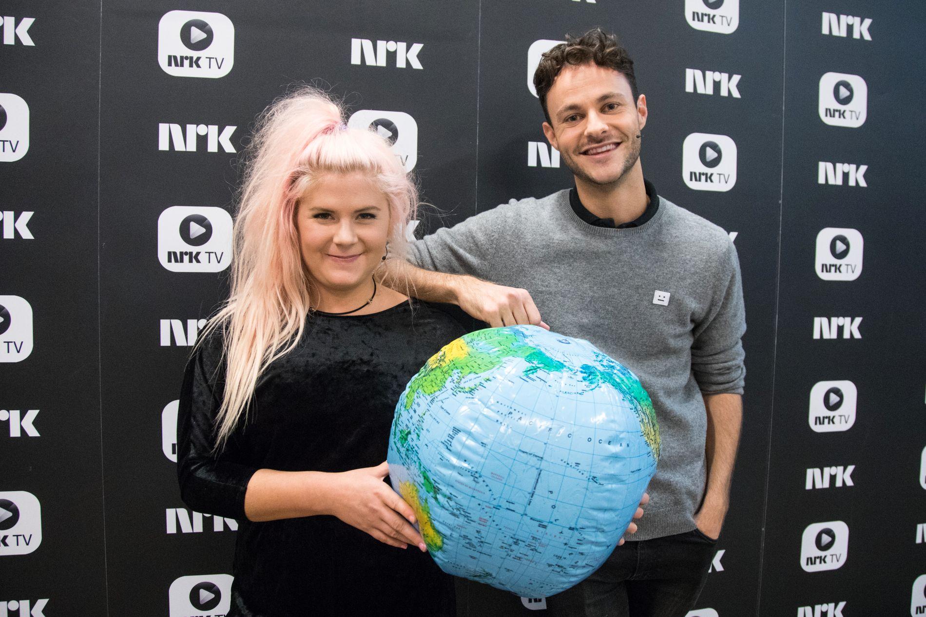 SATTE REKORD: Gisle Gjevestad Agledahl og Line Elvsåshagen under TV-aksjonen 2017.