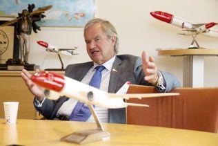 SJEFEN: Bjørn Kjos i Norwegian.