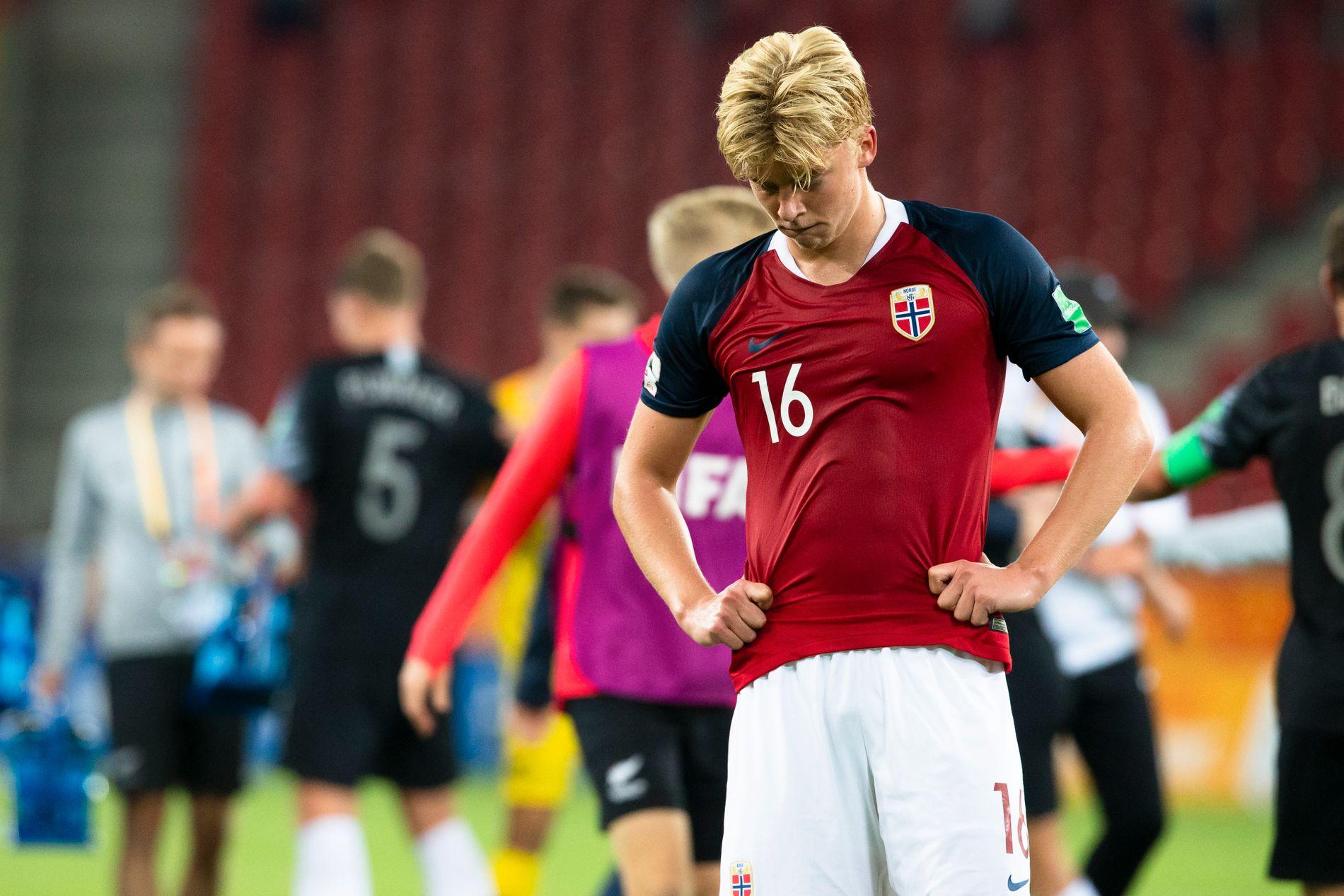 HAR FÅTT TUNG BESKJED: Tobias Børkeeiet deppet under U20-VM i Polen. Nå er midtbanespilleren syk.