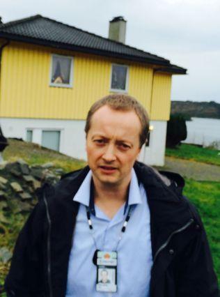 TEKNISK GJENNOMGANG: Etterforskningsleder Tor Kallmyr i Kripos ledet rekonstruksjonen av Monikas dødsfall onsdag.