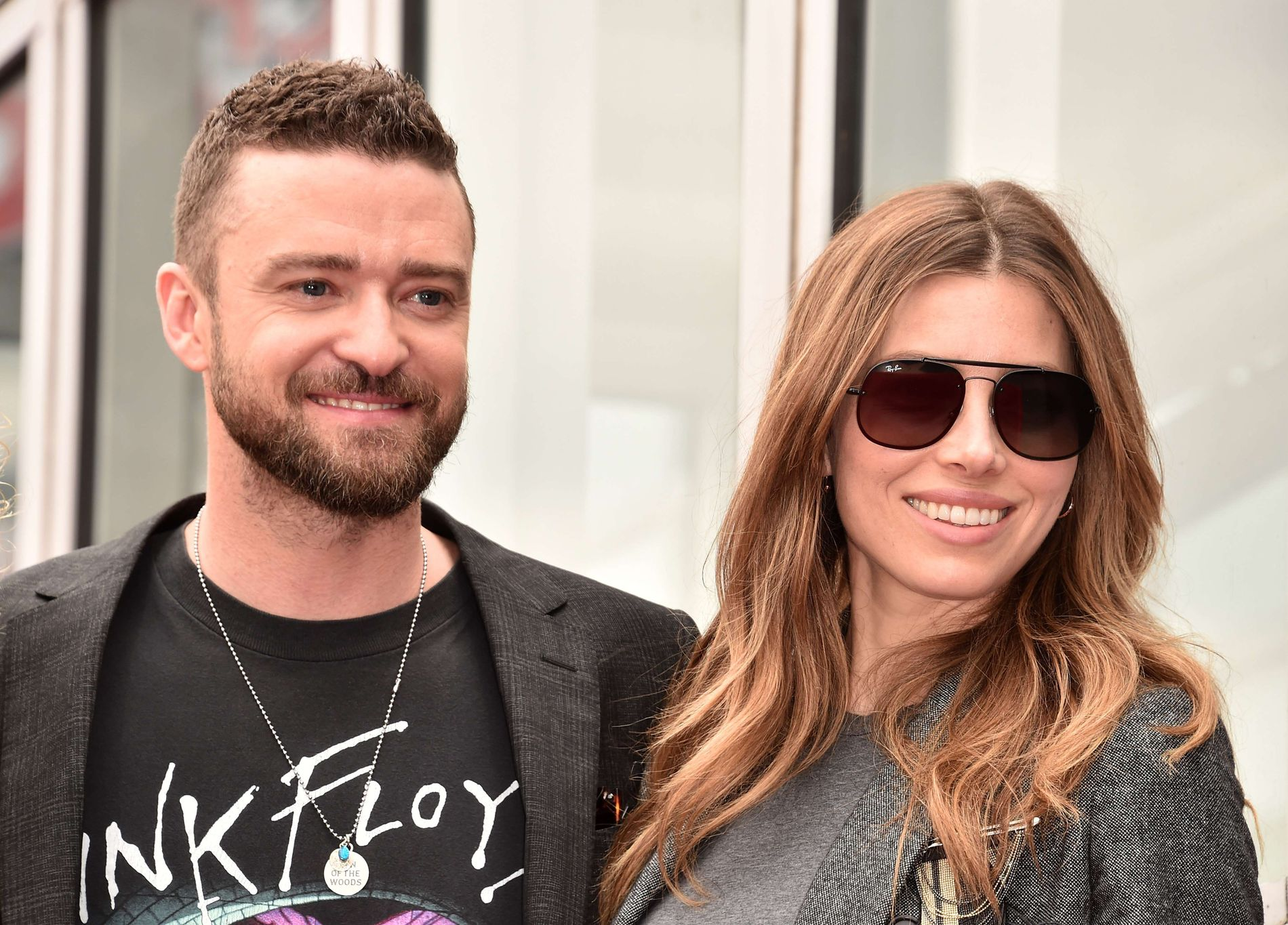 I SVERIGE: Popartisten Justin Timberlake (37) er gift med den amerikanske skuespilleren Jessica Biel (36). Her er de avbildet i Hollywood i april.