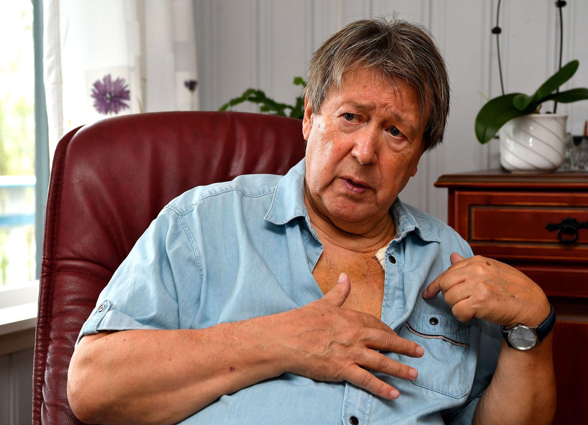 NYOPERERT: Tore Skoglund ble hjerteoperert og fikk satt inn en ny pacemaker 18. mai. Dagen etter ble han skrevet ut, og nå venter en lang opptreningsperiode hjemme på Senja.